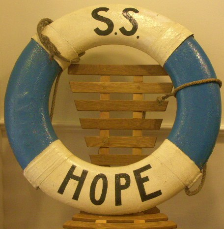 20th century lifebuoy from S/S HOPE
