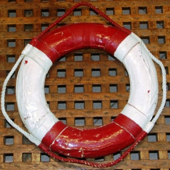 20th century lifebuoy from a private yacht
