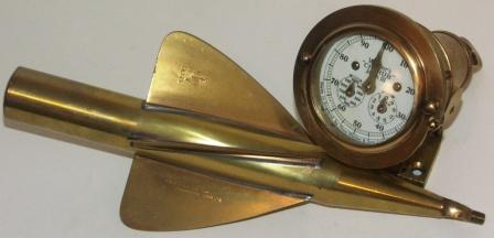 Early 20th century Cherub Mark III ship log in solid brass, made by Thos. Walker & Son Ltd., Birmingham.