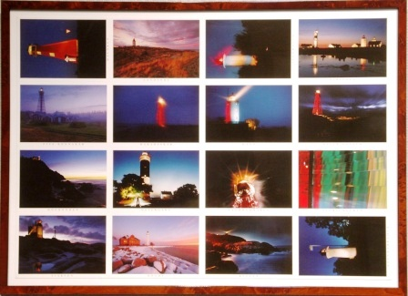 Collection of 16 different Swedish lighthouses