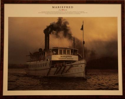 Depicting the Swedish passenger-steamer MARIEFRED, built in 1903