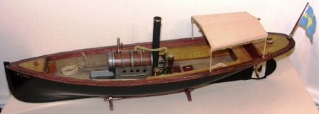 20th century built steam-powered wooden sloop ELIN. Complete with individually built and functional steam engine.
