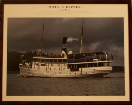 Depicting the Swedish steamer MOTALA EXPRESS, built in 1895