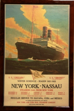 Depicting S.S. ORIZABA of the New York & Cuba Mail Steamship Company