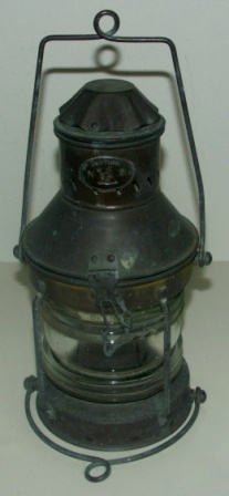 Early 20th century copper anchor light. Made by Neptune.
