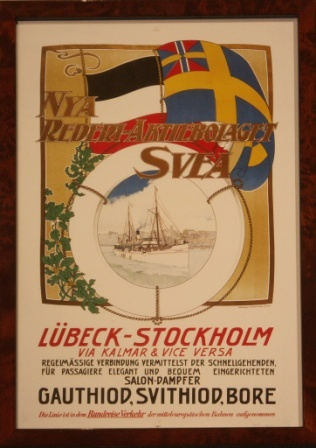 "Depicting the passenger steamer S/S SVITHIOD of the Swedish shipping company ""Nya Rederi-Aktiebolaget Svea."""