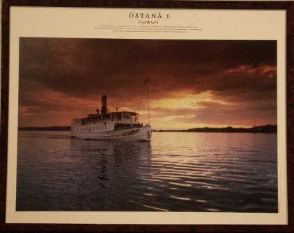 Depicting the Swedish archipelago-steamer ÖSTANÅ I, built in 1906