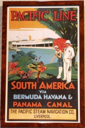 With the Pacific Steam Navigation Co. Liverpool to South America via Bermuda, Havana & Panama Canal
