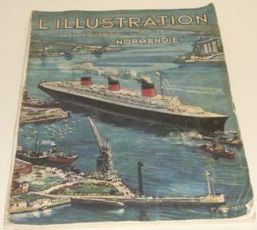 L'illustration le Paquebot NORMANDIE of the French Line/Cie Générale Transatlantique. Rich in illustrations and incl documentary facts.