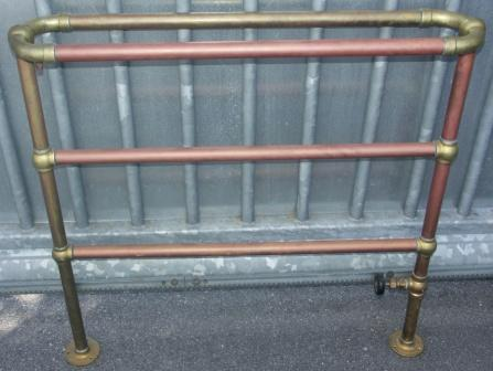 20th century brass and copper radiator.