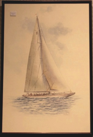 Depicting the J-Yacht RANGER 1937