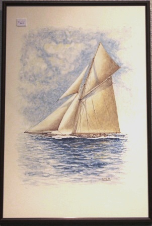 Depicting the racing yacht RELIANCE 1903.