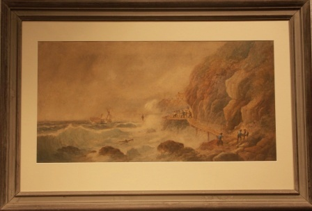 Depicting dramatic sea rescue operation of castaway