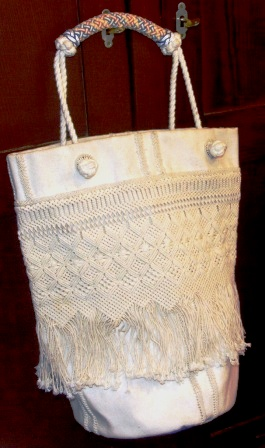Sailor-made macramé bag.