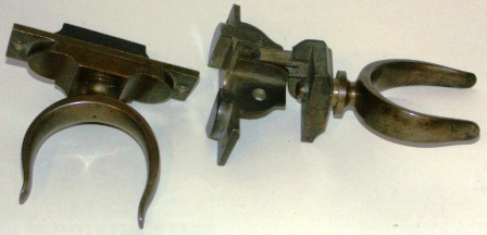 "A pair of 20th century folding rowlocks made of brass. ""Martin's Patent""."