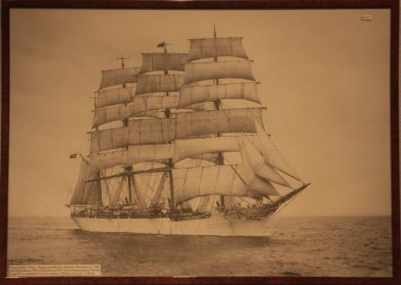 The Swedish four-masted barque VIKING, built 1906 in Copenhagen