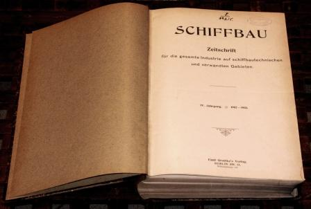 """Schiffbau und Schiffahrt."" German literature on shipbuilding and shipping activity. 28 volumes dated between 1902-1930."