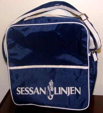 1960's bag in synthetic material from SESSANLINJEN (travelling between Sweden and Denmark)