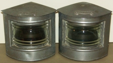Port and starboard, made by the Boats' Fittings Company Marine Engineers Bristol.