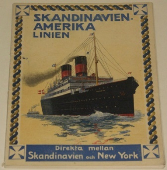 Skandinavien-Amerika Linien booklet. Incl general information and illustrations.