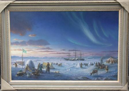 Depicting N.A.E. Nordenskiöld's expedition through the Northeast Passage 1878-1879.