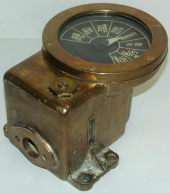20th century smoke simulator/indicator from the Swedish destroyer H.M.S. HALLAND. Made of brass.