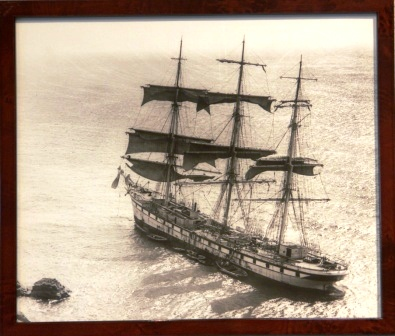 The full-rigged ship (SOCOA?) stranded at Lizard 1906