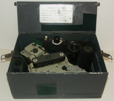German WWII Sold-Libellensextant KM-2. Made by C. Plath, Hamburg. In original metal case.
