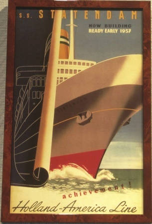 Depicting S.S. Statendam, Holland-America Line