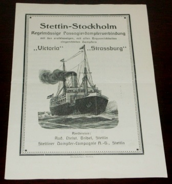 1930's regular routes between Stettin and Stockholm