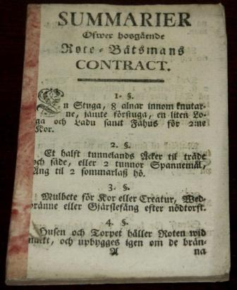 His Majesty's Decree/Contract for Boatswain
