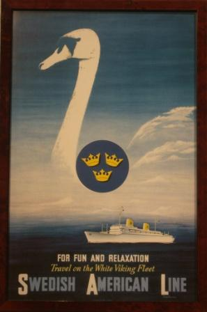 Depicting a SAL (Swedish American Line) passenger liner