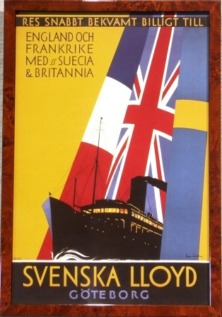 To England and France with S/S SUECIA & BRITANNIA of the shipping company Swedish Lloyd.