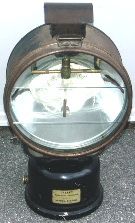 Tilley early 20th century kerosene floodlight projector. Made at Hendon, England.