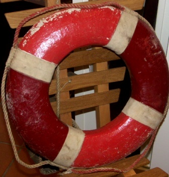 20th century lifebuoy from a private yacht.