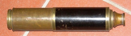 "19th century hand-held refracting ""Day and Night"" telescope made by Dollands Telescope, London. Three brass draws."