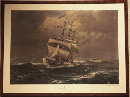 German full-rigged vessel TERPSICHORE, built 1833 in Liverpool U.K.