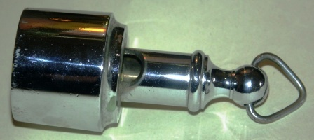 20th century chrome-plated voice tube-whistle.
