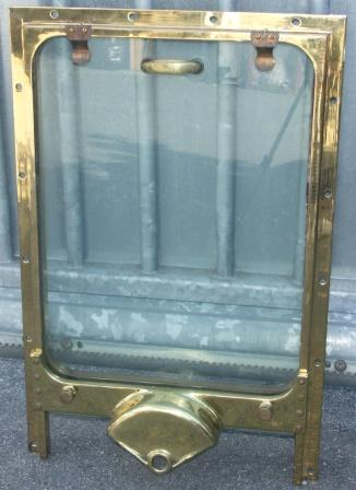 20th century sliding brass ship's window.