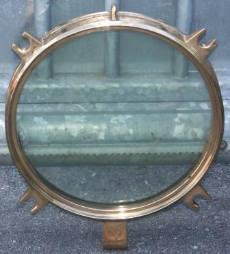 20th century brass porthole lid
